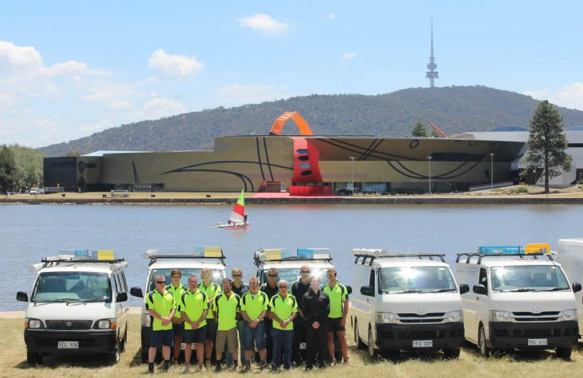 The MRB Team opposite the National Museum in Canberra