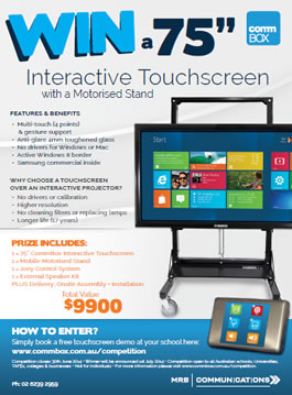 Download Flyer for Interactive Touchscreen Competition
